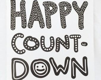 Happy Countdown Coloring Book