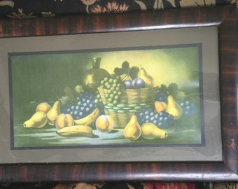 H Hadland Still Life with Fruit Framed Print