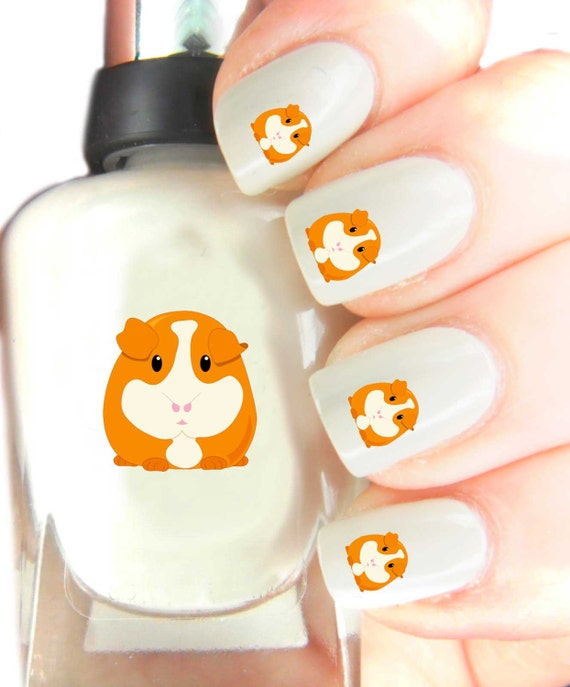 Pig Nail Art: Guinea Pig Nail Art Decal Stickers . Nail Art By
