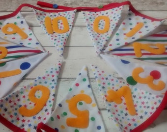 Number Bunting, Classroom Bunting, Numeracy Resource, 0-10 bunting, educational bunting, playroom bunting, bedroom bunting, home decor