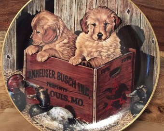 "First Issue Budweiser Man's Best Friend Collection ""Buddies"" by Marlowe Urdahl"