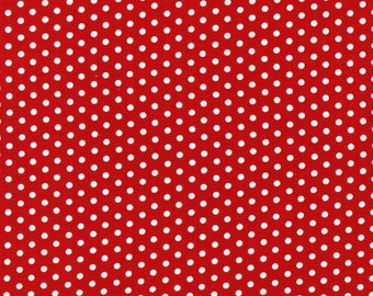 Robert Kaufman Red Polka Dot Fabric