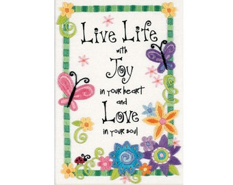 Embroidery Kit - Crewel Embroidery Kits - Dimensions Minis - Live Life - Flowers - #06231