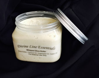 16 oz Hand Whipped Shea Butter