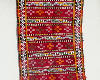 Moroccan Kilim rug - large (red)