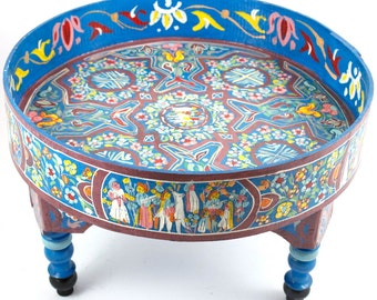 Blue hand-painted coffee table