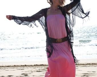 Summer Maxi Dress, Pink Maxi Dress, Tie Dye Maxi Dress, Summer Cover Up, Bandeau Maxi Dress, Ibiza Maxi Dress, Woman Cover Up, Beach Dress