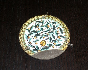 Sicily Etna Volcano Necklace, Volcano Pendant, Molten Rock Necklace, Lava Etna Necklace, Hand Painted Necklace, Handamad, Leather Necklace