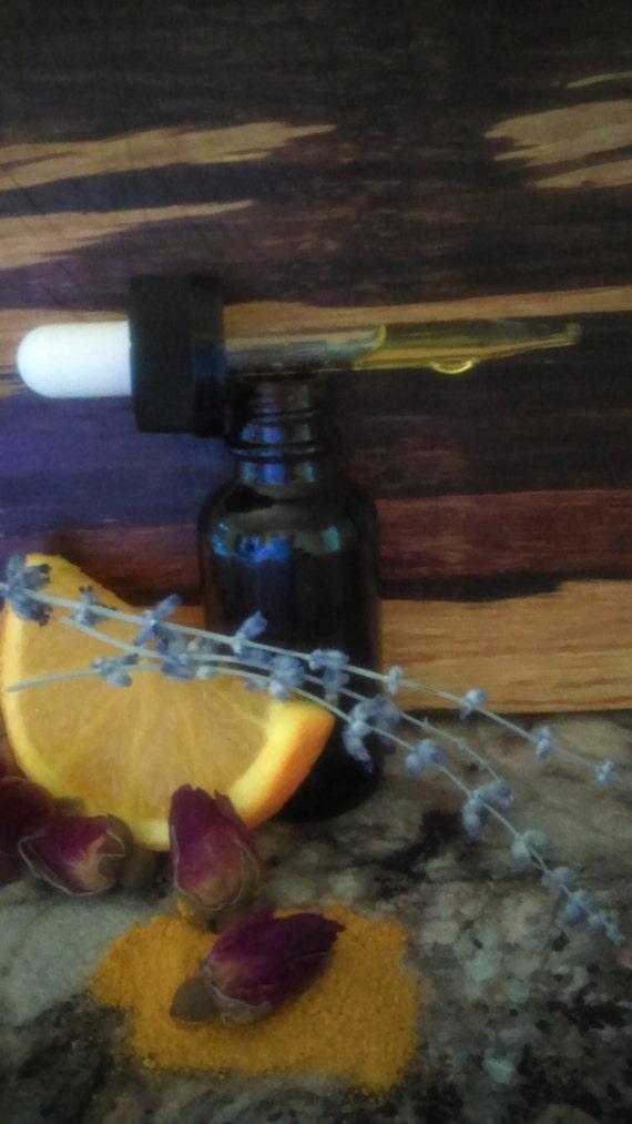 Everything's Gonna Be All BRIGHT Facial Oil/Organic Argan/Organic Rosehip Oil/Lemon/Tumeric/Rose Geranium/Lavender/Chamomile/Sweet Almond