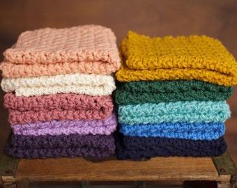 Mini Layering Blanket, photo prop, newborn photography, textured layer, crochet, knit