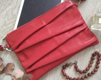 "Clutch leather bag ""Runi"""