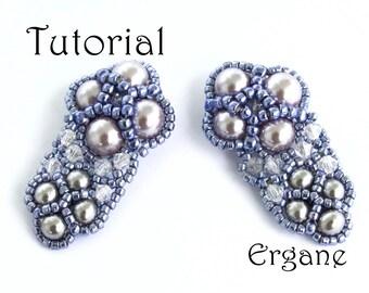 Sparkle Evening Earrings Tutorial, Beading Tutorial, Earrings Beading Tutorial, Ergane Beading