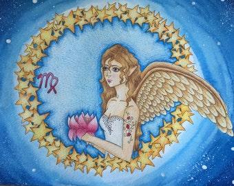 Fantasy painting: zodiac virgo