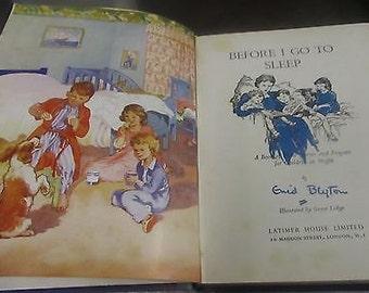 Vintage - Before I Go To Sleep by Enid Blyton - 1953