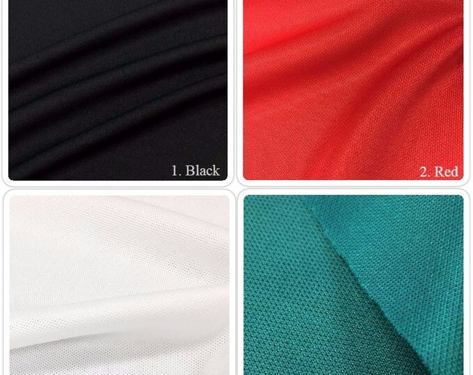 Pique Knit fabric By the Yard (Wholesale Price Available By the Bolt) USA Made Premium Quality - 7001 - 1 Yard