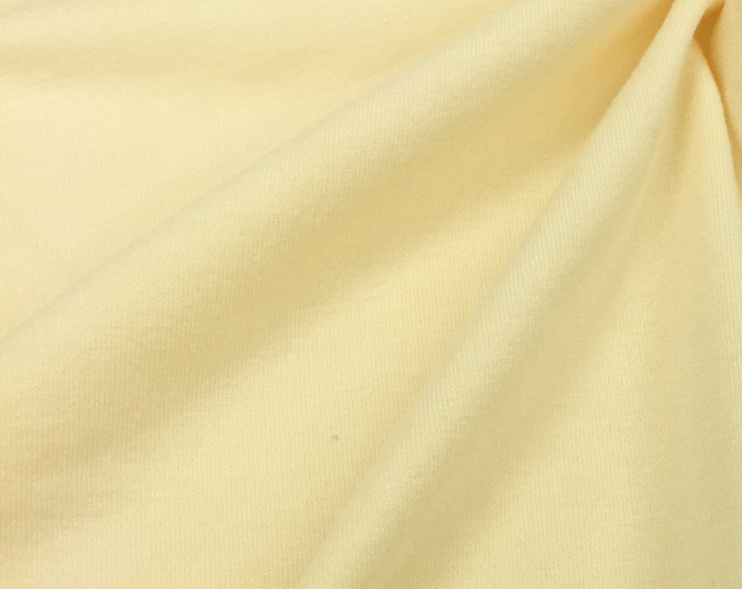 Soy Bean Jersey Knit Fabric With Spandex (Wholesale Price Available By The Bolt) USA Made Premium Quality - 3093SOY Natural