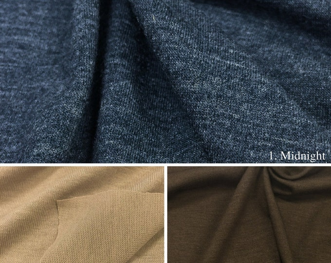 Jersey Knit Fabric (Wholesale Price Available By The Bolt) USA Made Premium Quality - 3088PR - 1 Yard