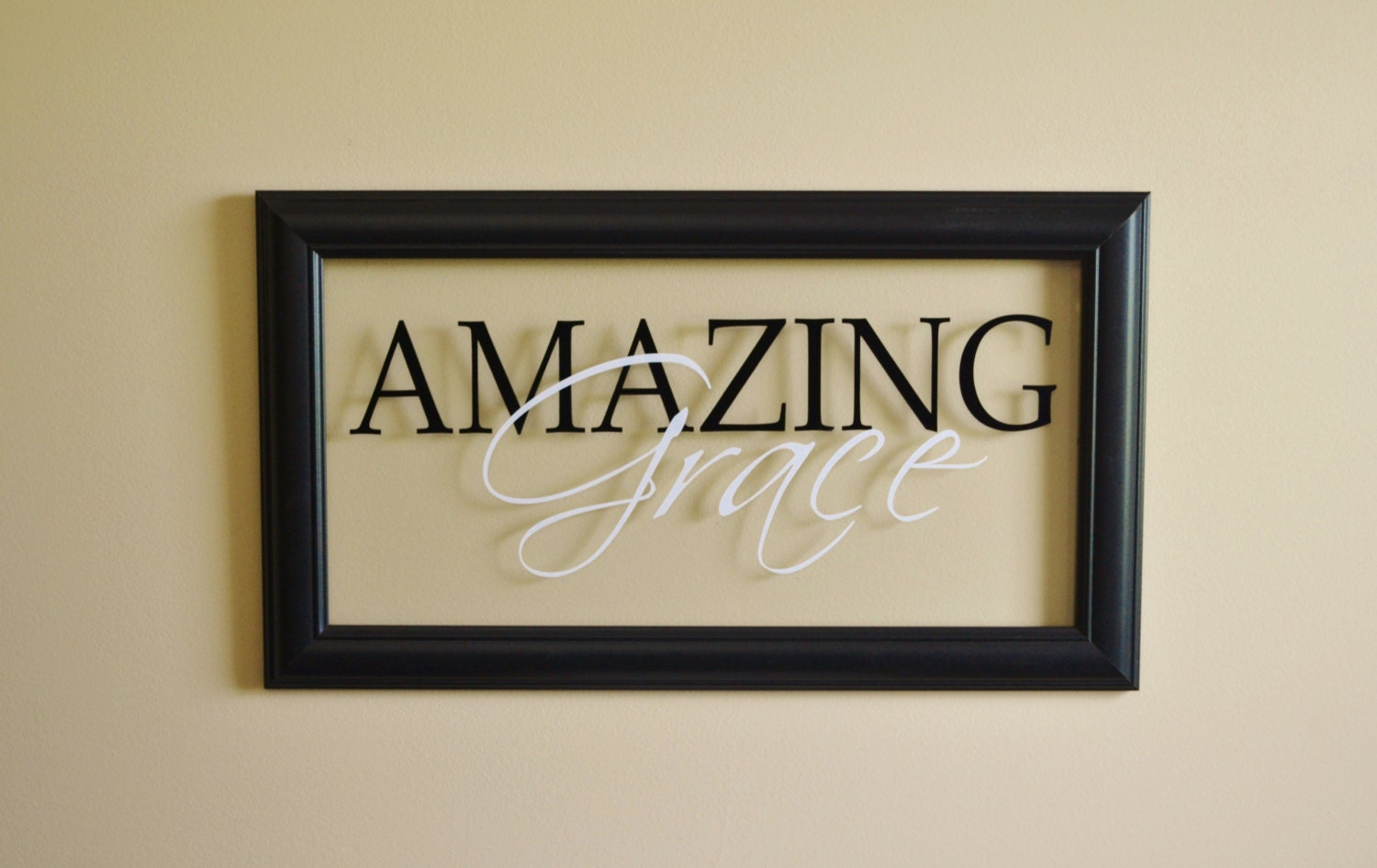 Amazing Grace Wall Decor Glass Wall Sign Christian Wall Decor