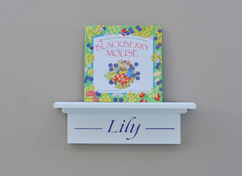 Nursery shelf kids room wall decor floating shelf personalized for Personalized kids room decor