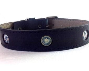 Steampunk Dog collar - Boston Terrier
