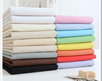 Solid Cotton Linen Blend Fabric for Curtain Purse Clothing DIY Handcraft