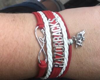 Arkansas Razorback Bracelets