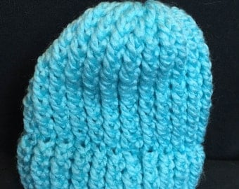 Sky Blue Newborn Baby Knit Beanie