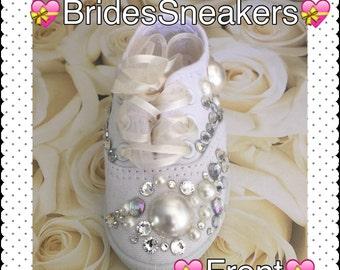 Brides*Brides Sneakers* Weddings* Wedding Sneakers*Bride Flats*