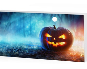 Awesome Halloween Jackolantern Canvas