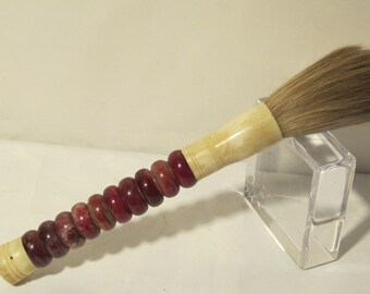 ON SALE Red Chinese Calligraphy jade Brush