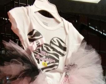 Minnie Mouse designed Tshirt w/Tutu