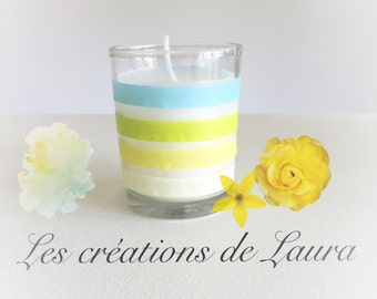 Candle Blue Ribbon
