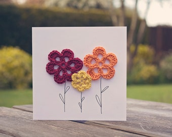 Crochet Flowers Card