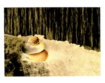 Minerality. Postcard neko92vl. Abstract, abstraction, fantasy, unreality, composition, snow, ice, surreal landscape