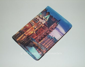 High Quality Faux Leather Passport Holder Case (City)
