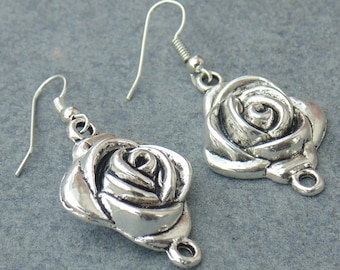 Flower Earring / Silver Plated Earring / Metal Earring / Dangle Earring / Banjara Earring / Festival Wear Earring / Loop Earring / E1
