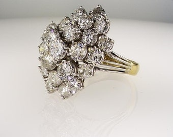 1011 ctw big cocktail cluster diamond wedding ring - Big Wedding Ring