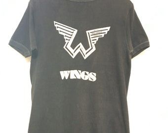 1976 WINGS PAUL MCCARTNEY Vintage T Shirt Promo