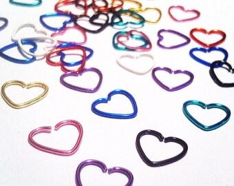 18g Heart Hoops