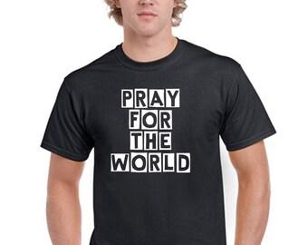 Pray For The World T-Shirt Men Boys
