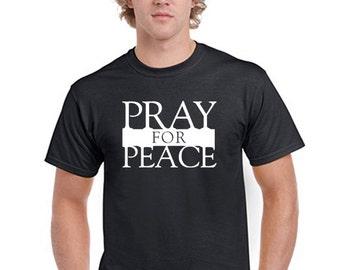 Pray For Peace T-Shirt Men Boys