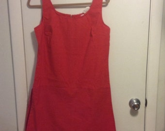 Red Vintage Romper Dress