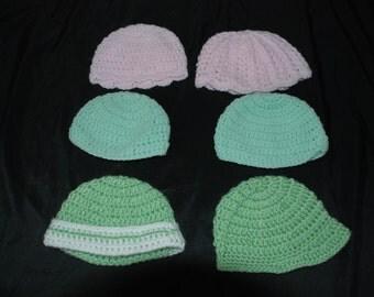 Infant Hats 0-6 months