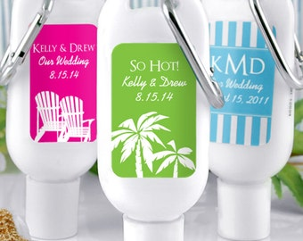 Wedding Favor Sunscreen, Personalized Sunscreen Wedding Favors - Set of 12