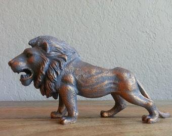 Hand Refinished, Repurposed Lion Planter