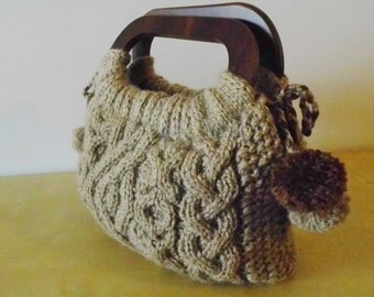 Romantic Knitted bag, Knitted bag, Handmade bag, handmade knitted bag, Accessories