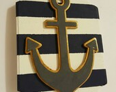 Anchor and Stripes wall hanging