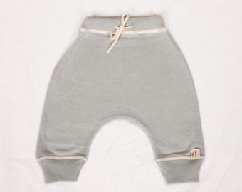 Babies Baby Blue Fine Knit Cashmere/Cotton Trousers