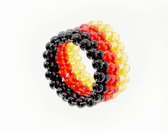 World Championship - ring - Germany flag - football World Cup 2018 - merchandise (BS-1102)