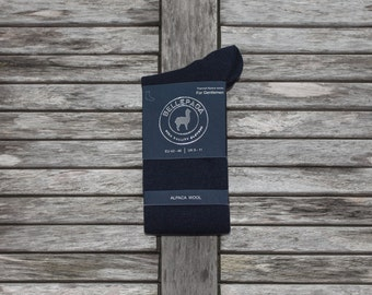 High Navy socks Alpaca for man